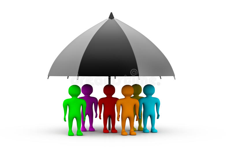 Download People Standing With A Black Umbrella Royalty Free Stock Image - Image: 20635766