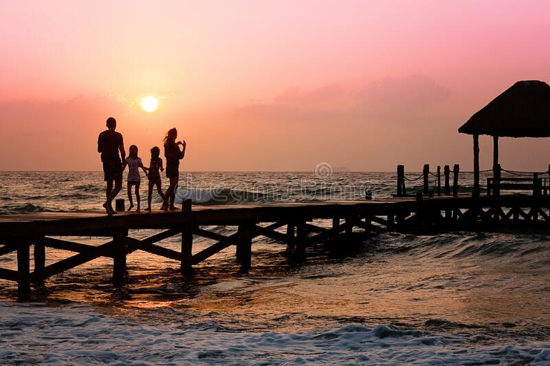 People Standing On Dock During Sunrise Free Public Domain Cc0 Image