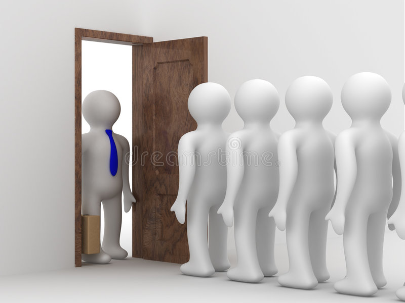 People Standing One After Another Royalty Free Stock Image
