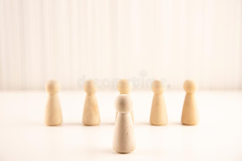 People standing out from the crowd. Human resource, Talent management, Recruitment employee, Successful business team leader conce royalty free stock photography