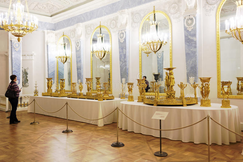 People in the State Hermitage Museum, St. Petersburg, Russia royalty free stock image