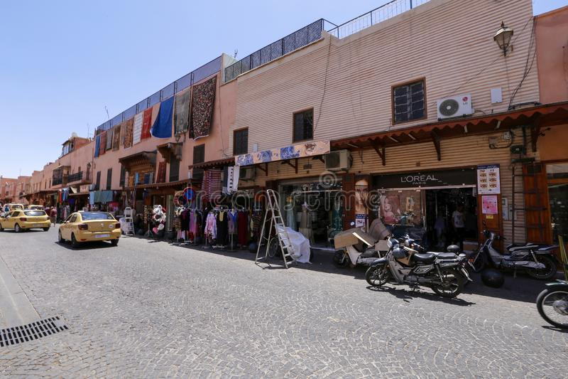People in  street of Marrakech royalty free stock photos