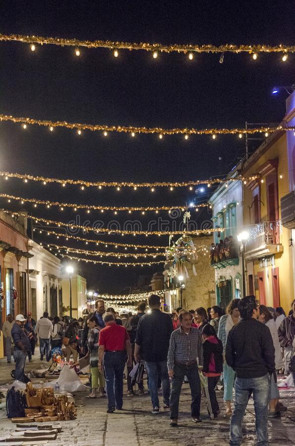 People in street. Oaxaca, Mexico royalty free stock photography