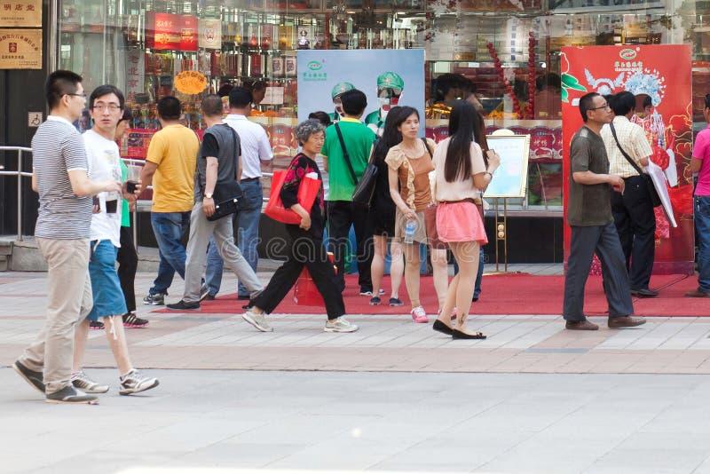 People on streets of Beijing