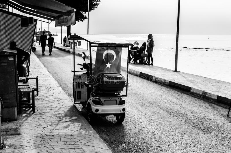 People And Streets Of Nostalgic Seaside Town - Turkey stock photos