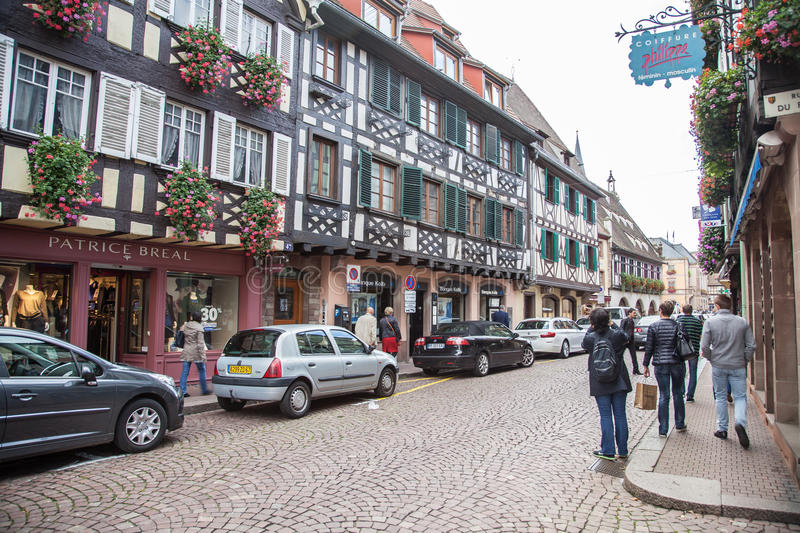 People in the streets of Strasbourg,France royalty free stock photo