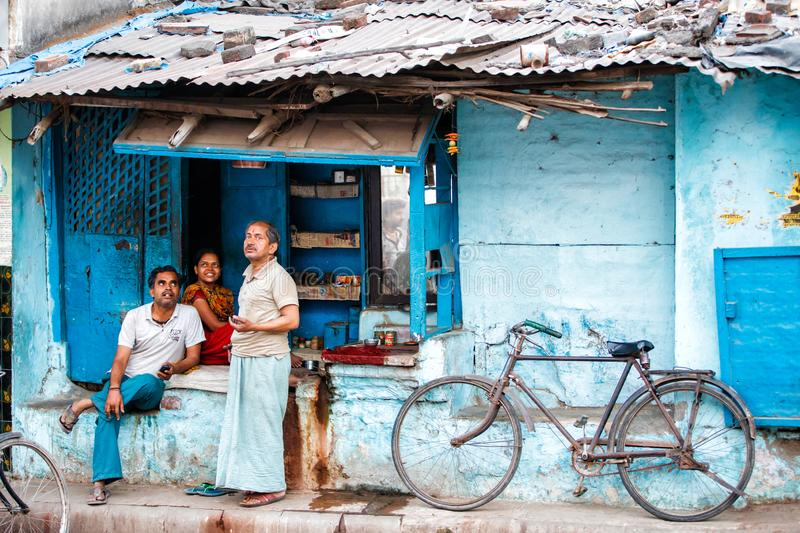 People in the streetsof Varanasi royalty free stock photography