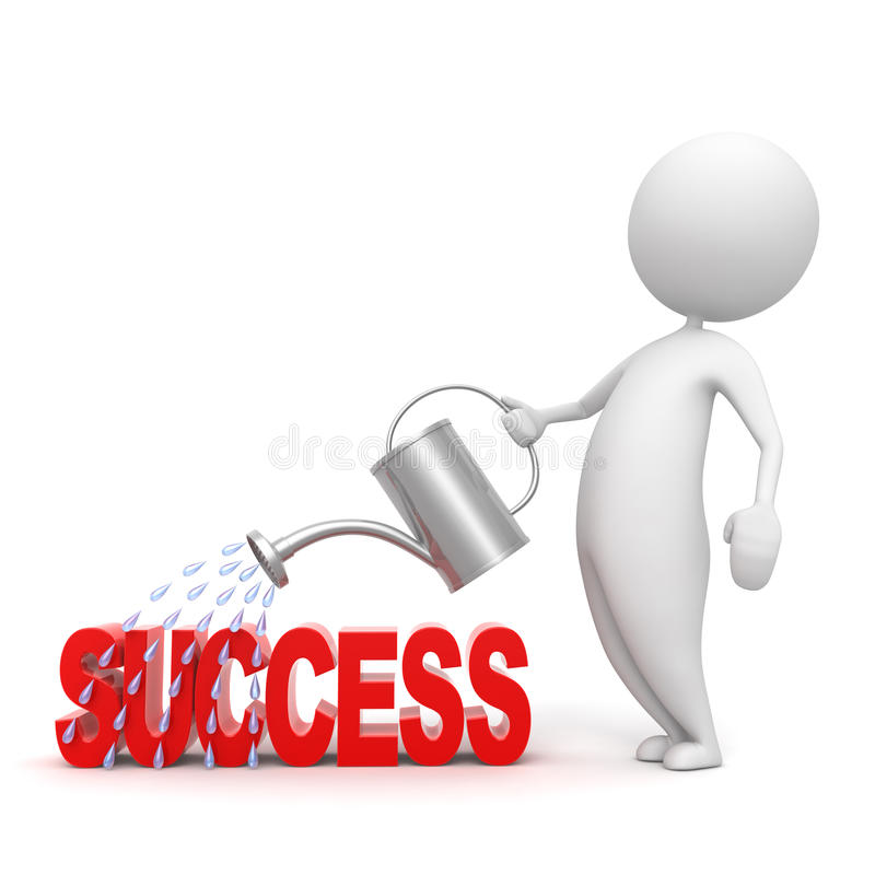 People_success vektor abbildung