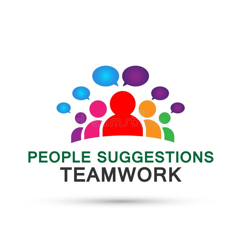 People suggestions team work logo partnership education celebration group work people icon vector designs on white background. For company or any type design vector illustration