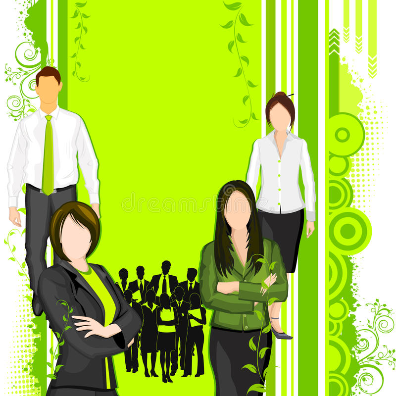 People supporting Eco friendly concept stock illustration