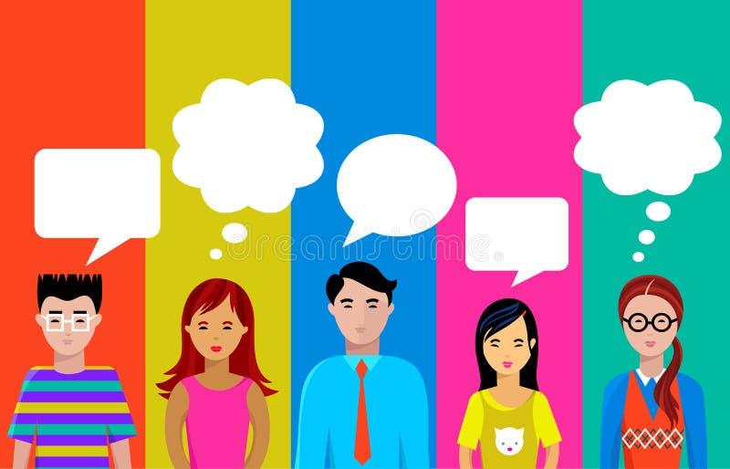 People talk royalty free illustration