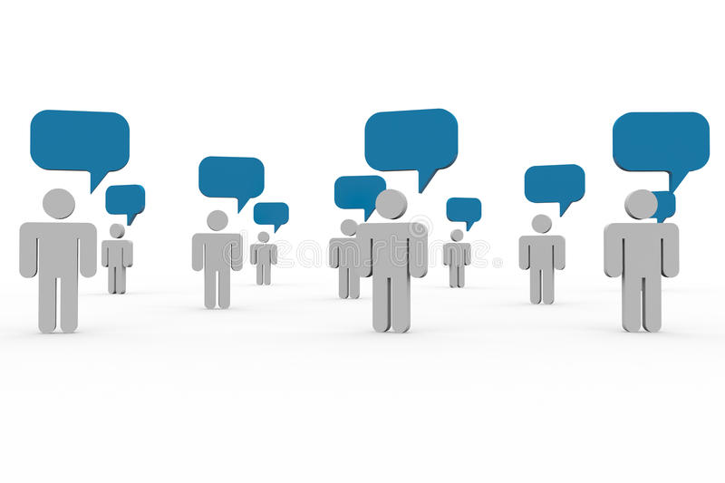 People talking. Concept of global community. stock illustration