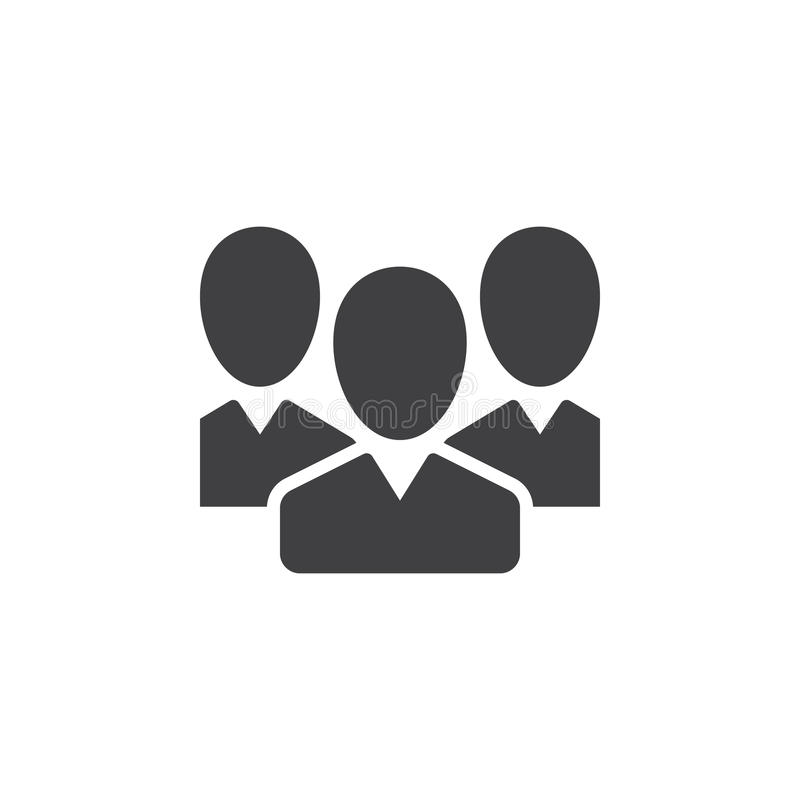 People, team icon vector, filled flat sign, solid pictogram isolated on white vector illustration
