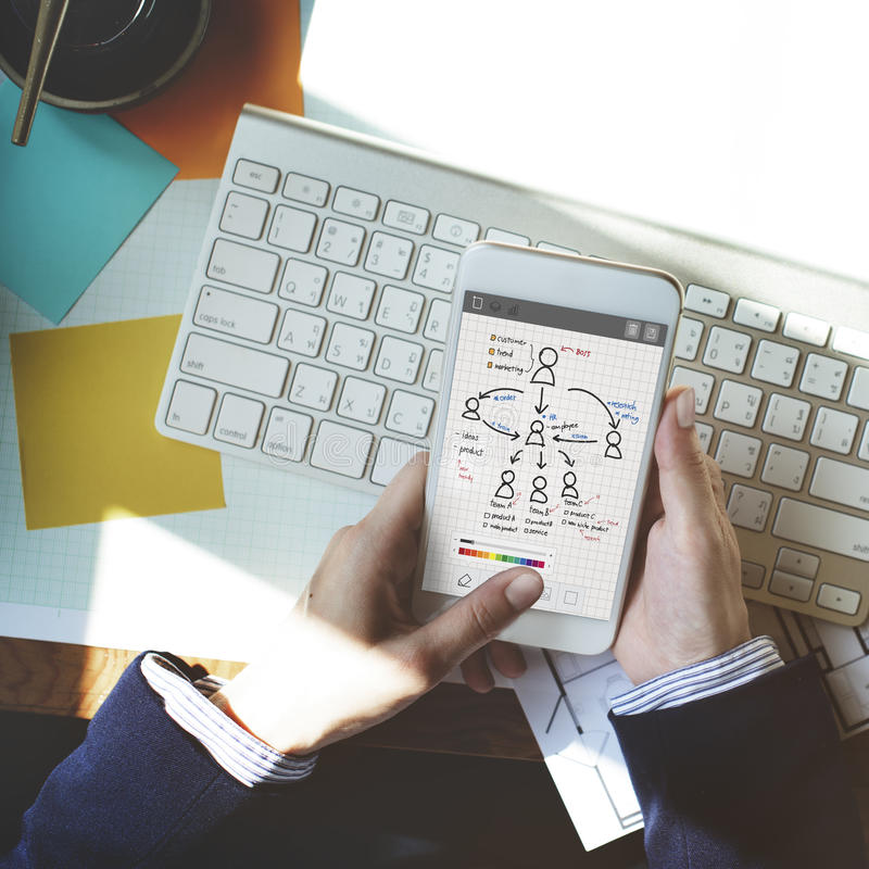 People Team Work Organization Plan Concept stock photography