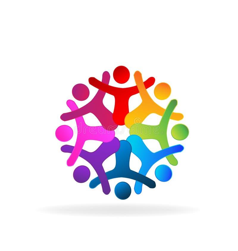 People teamwork open hands stock illustration