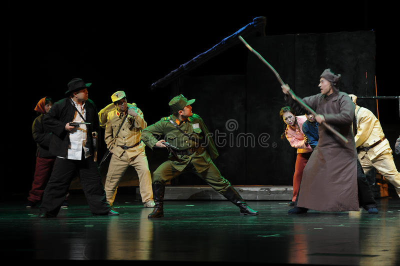 The people to revolt- Jiangxi opera a steelyard. Jiangxi opera a steelyard is adapted from a true story: the last century fortys, the protagonists father runs an royalty free stock images