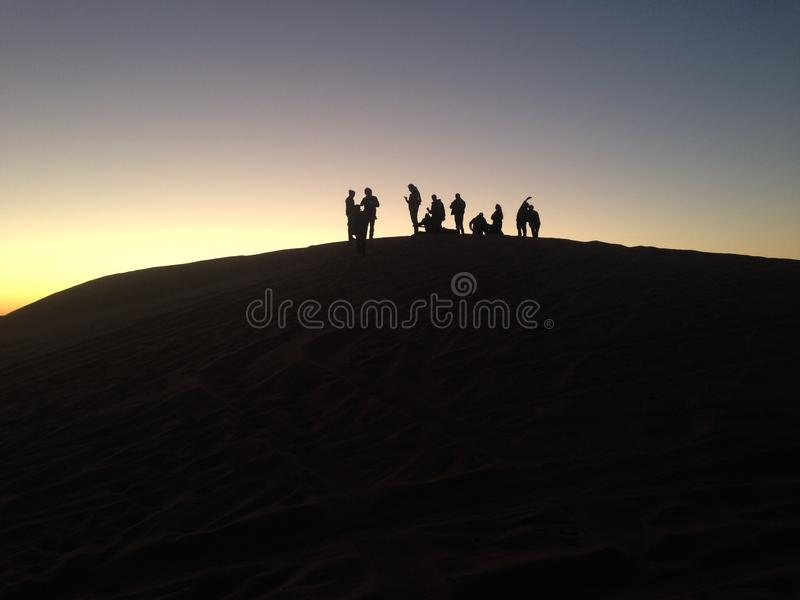 People On the Top A Dune stock images