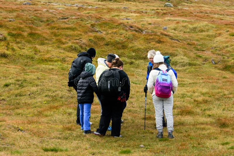 People Touring The Cairn Gorm Mountain Summit Editorial