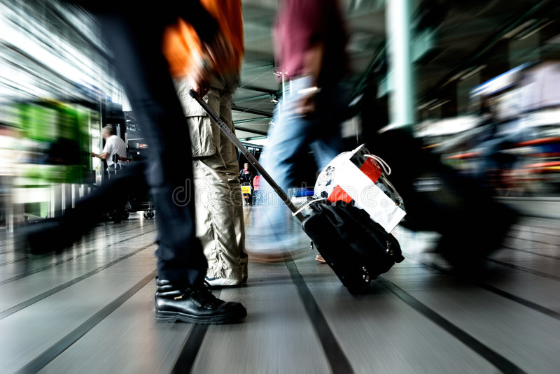 People traveling stock image