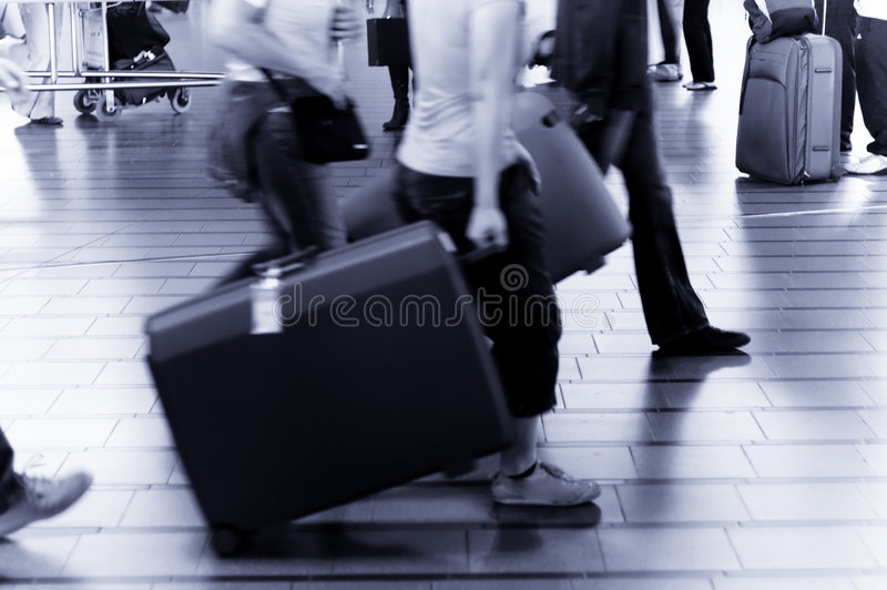 People Traveling At  Airport Stock Images