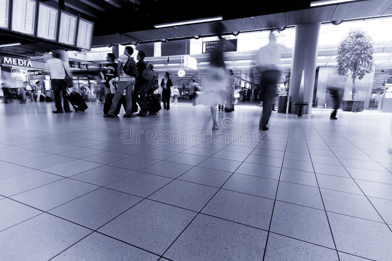 Download People Traveling At  Airport Royalty Free Stock Images - Image: 3191499