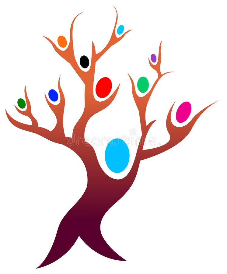 Download People tree stock vector. Image of drawing, cooperation - 18331212