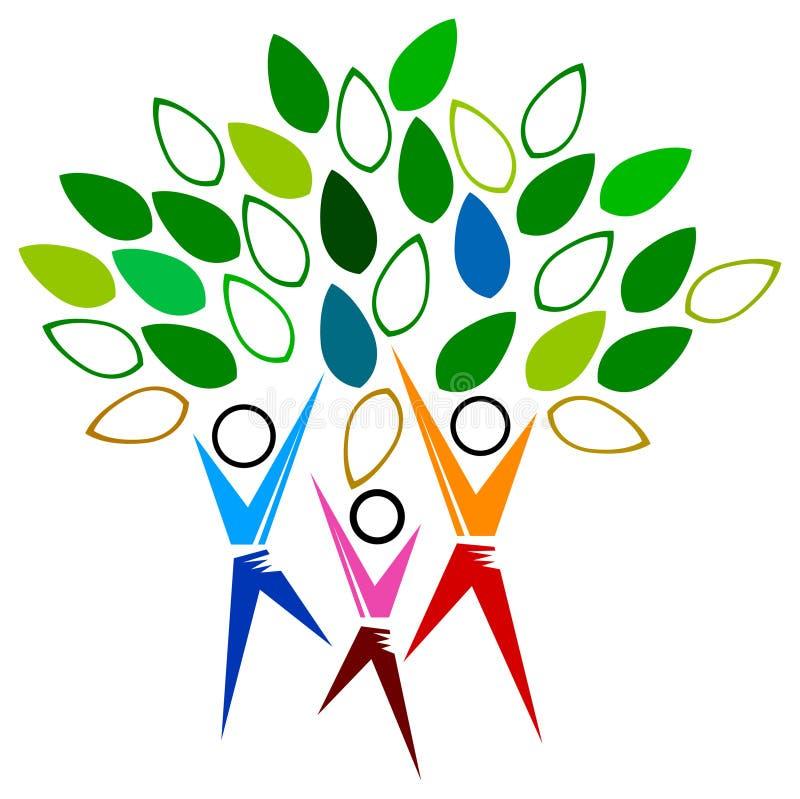 People tree stock illustration