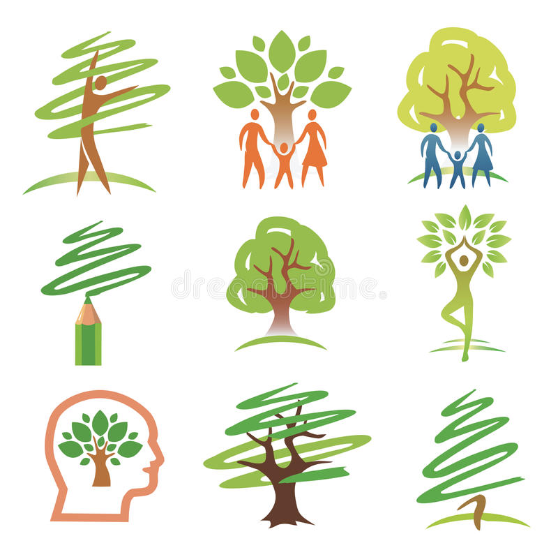 Download People and trees icons stock vector. Image of family - 27281602