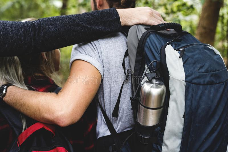 Download People Trekking In A Forest Stock Photo - Image of hike, exploring: 110811674