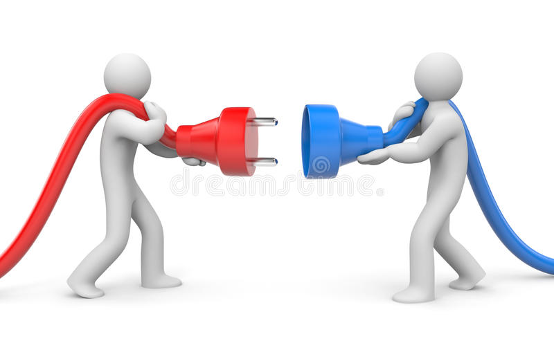 Download People try to connect stock illustration. Image of object - 27095228