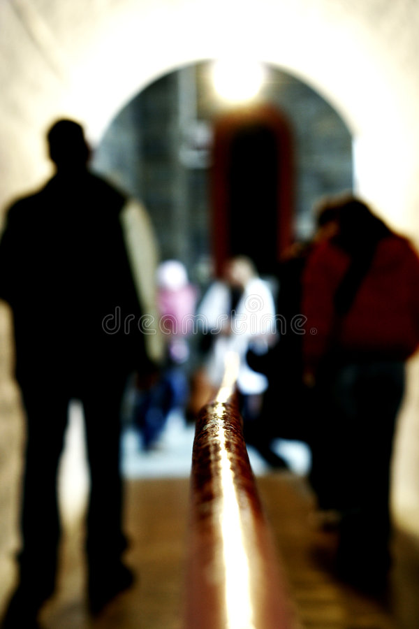 People In A Tunnel Royalty Free Stock Image