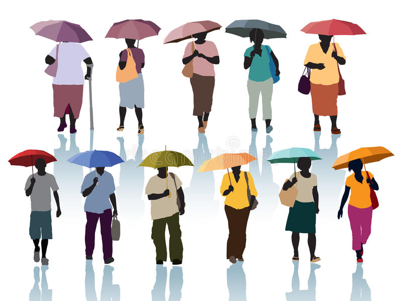 Download People With Umbrellas Stock Photos - Image: 27251363
