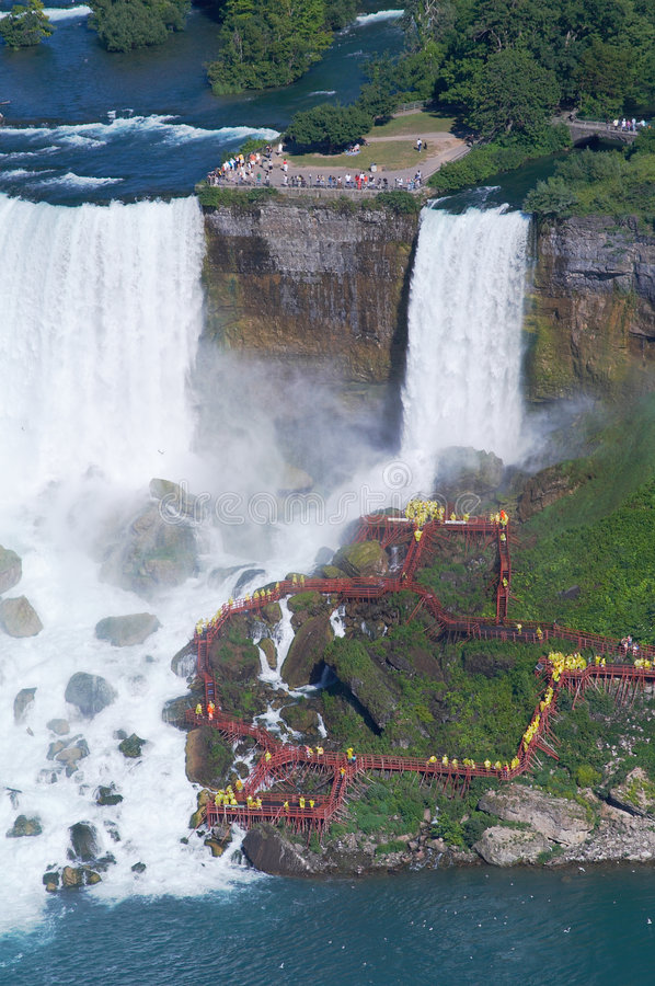 Download People Under The Niagara Fall Stock Image - Image: 7345055