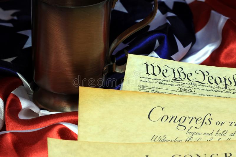 We The People, United States Constitution Stock Photos