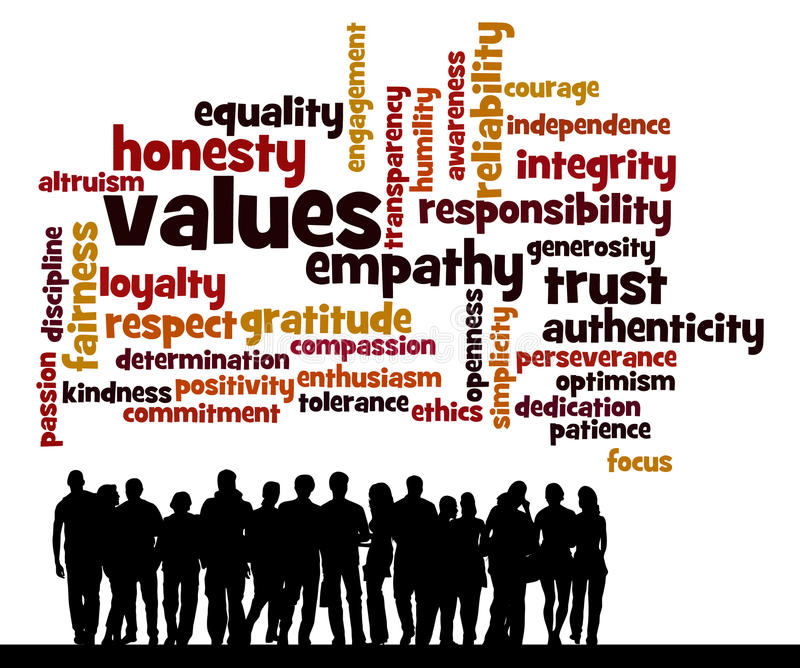 People values stock illustration