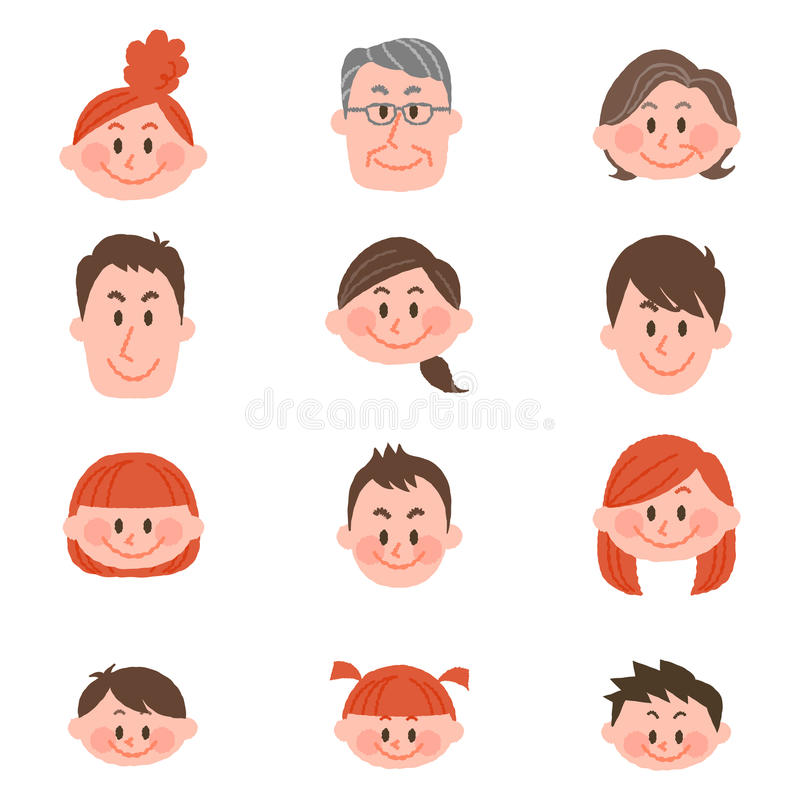 Download People Of Various Ages With Vector Illustration Stock Vector - Illustration of girl, smile: 87774153