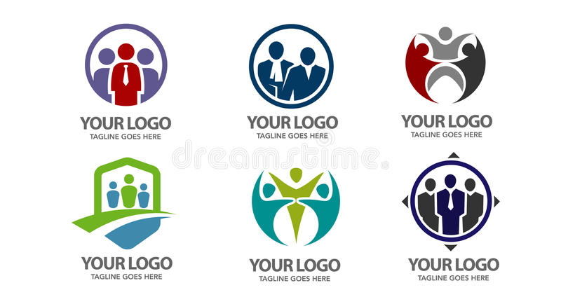 People vector logo. Illustration concept of people activity logo set