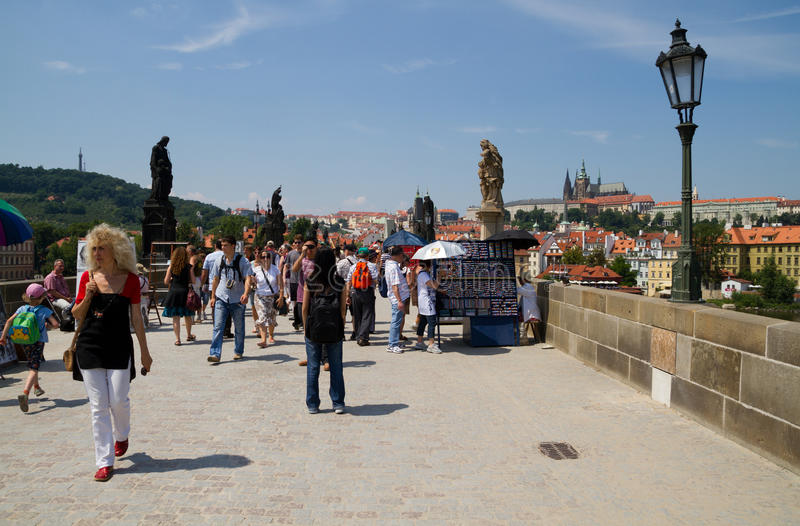 Download People Visit The Charles Bridge In Prague. Editorial Stock Image - Image: 41928594