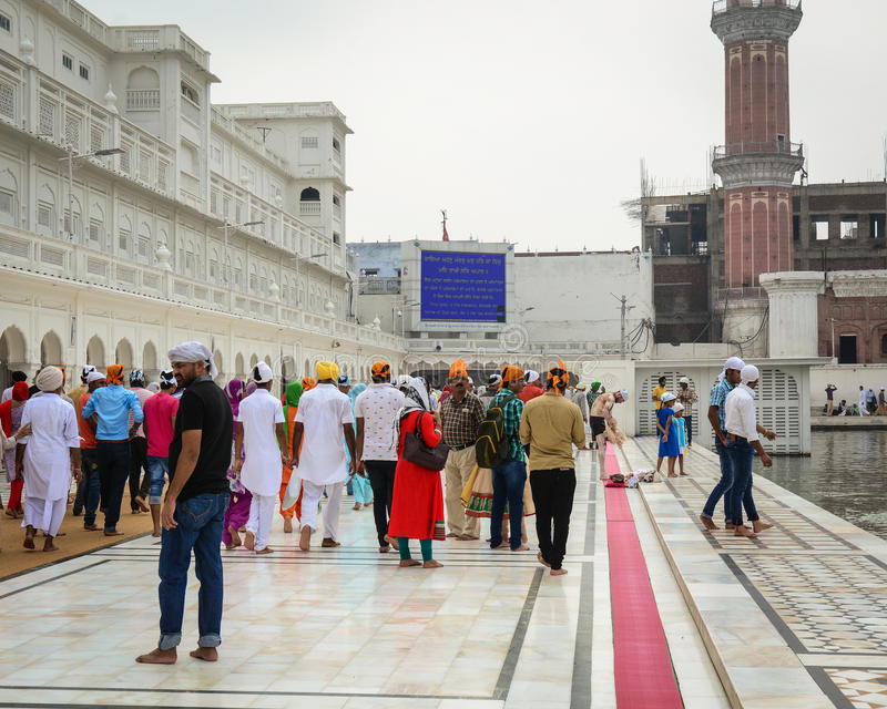 People visit the Golden Temple in Amritsar, India stock images
