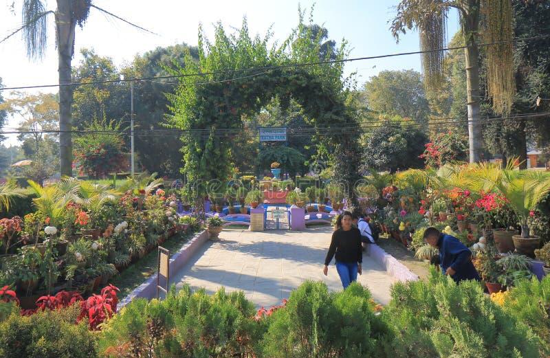 Ratna park Kathmandu Nepal. People visit Ratna park in Kathmandu Nepal stock photography