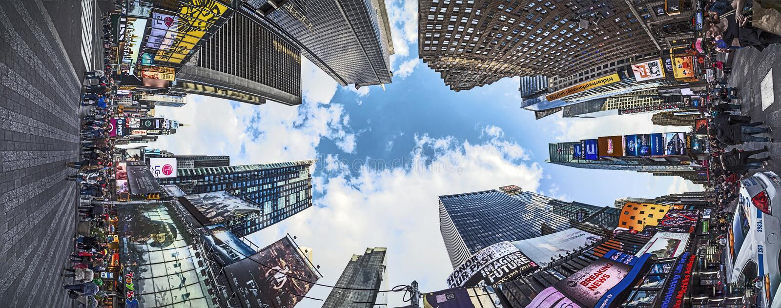 People visit Times Square, featured with Broadway Theaters and h. NEW YORK, USA - OCT 25, 2015: people visit Times Square, featured with Broadway Theaters and royalty free stock photography