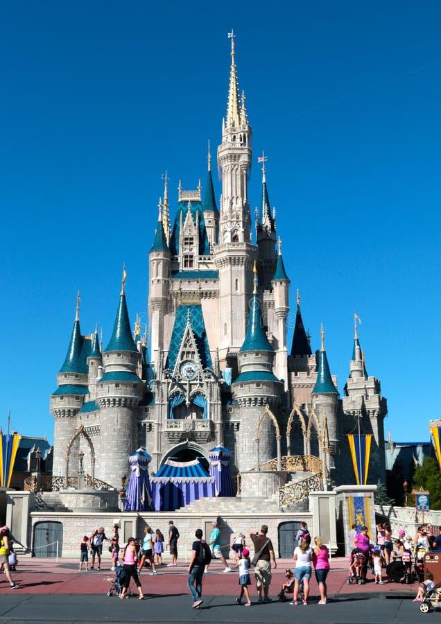 People visit Walt Disney's Magic Kingdom. In Orlando, Florida royalty free stock photos