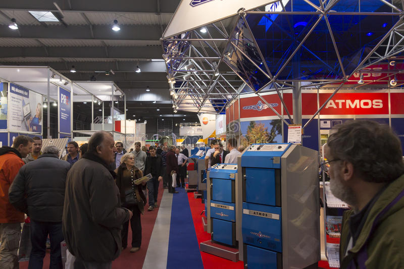 People visiting AquaTherm 2012 in Prague