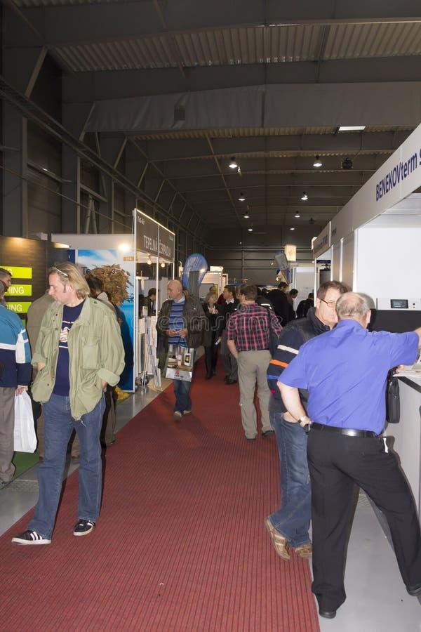 People Visiting AquaTherm 2012 In Prague Editorial Image