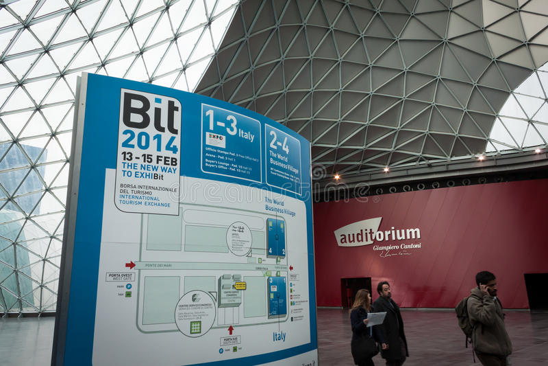Download People Visiting Bit 2014, International Tourism Exchange In Milan, Italy Editorial Photo - Image: 37906936