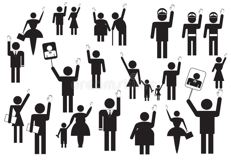 people voting on elections stock illustration