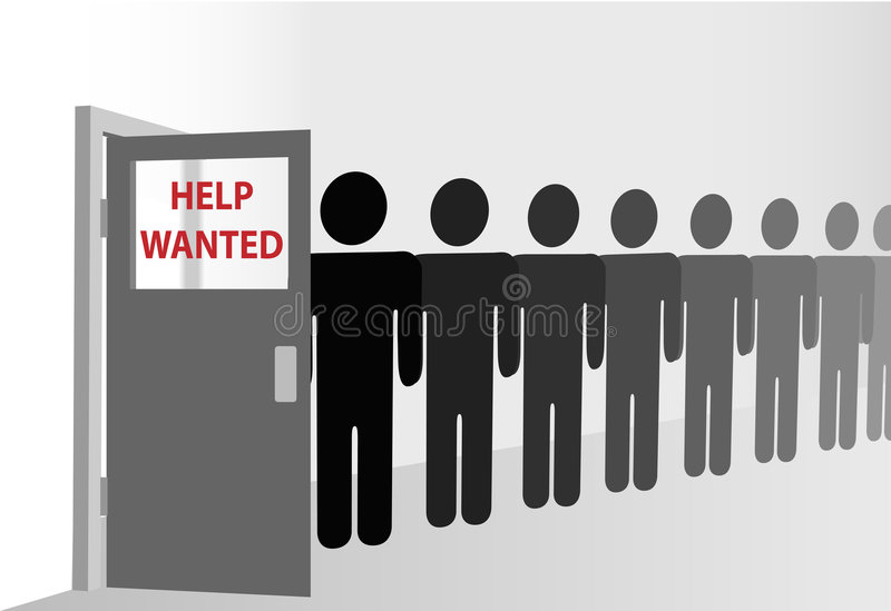 Download People Wait In Line At Door With Copyspace Window Royalty Free Stock Images - Image: 6942499