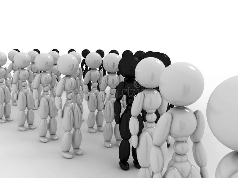 Download People wait in line #7 stock illustration. Image of large - 32469453