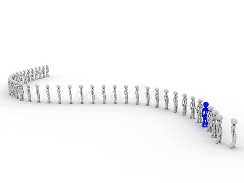 Download People wait in line  #1 stock illustration. Image of group - 32469483