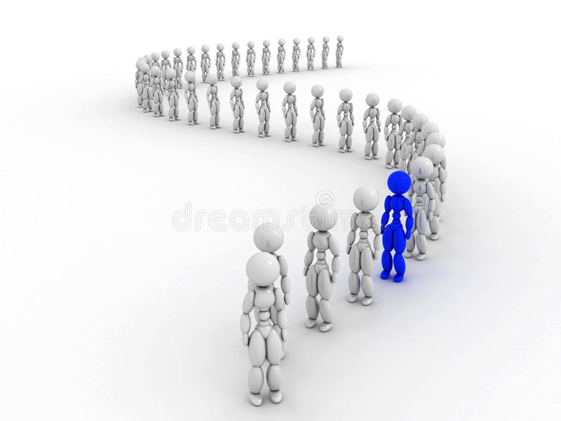 Download People wait in line 1 stock illustration. Image of queuing - 32469484